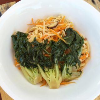 Udon with Shiitakes and Bok Choy