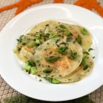 Squash Ravioli with Browned Butter with Sage and Peas